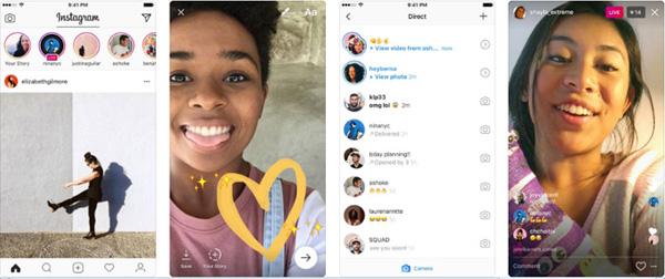 Приложение Instagram для смартфонов на базе iOS