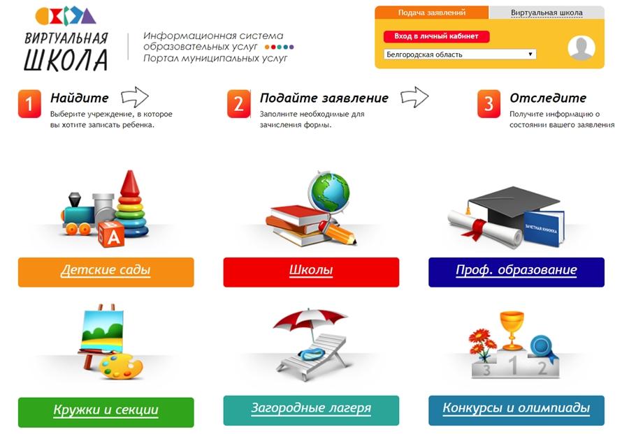 Страница для регистрации Виртуальная школа